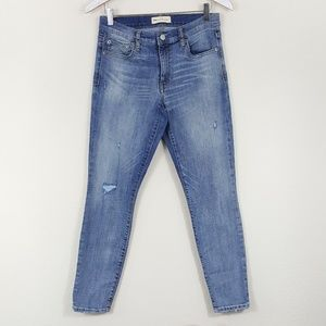 GAP True Skinny Light Wash Distressed Jeans 29